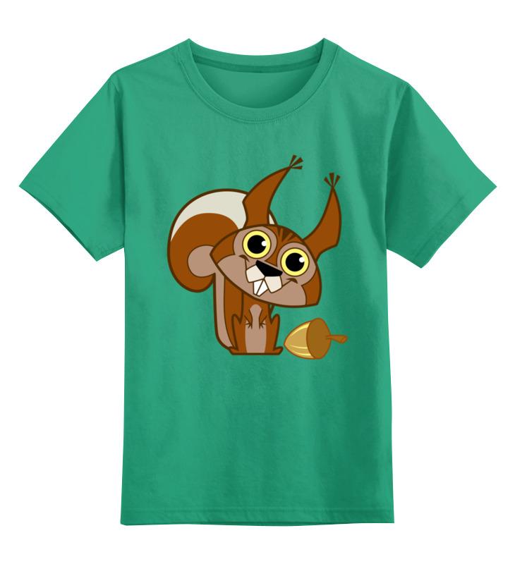 Детская футболка классическая унисекс Printio Белка цена и фото