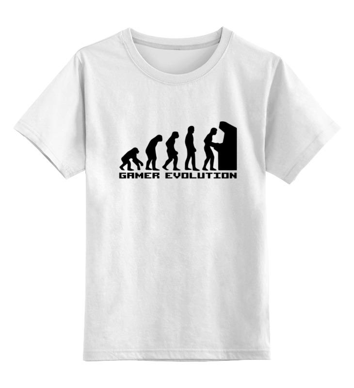 Детская футболка классическая унисекс Printio Эволюция игрока детская футболка классическая унисекс printio мотобайк
