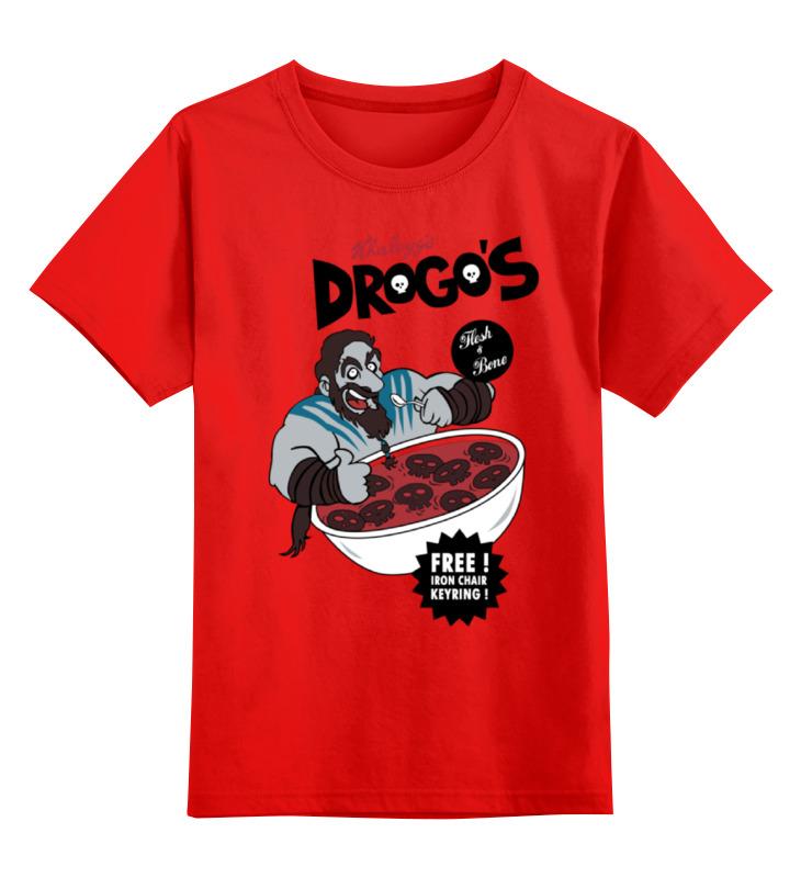 Детская футболка классическая унисекс Printio Игра престолов drogos цена