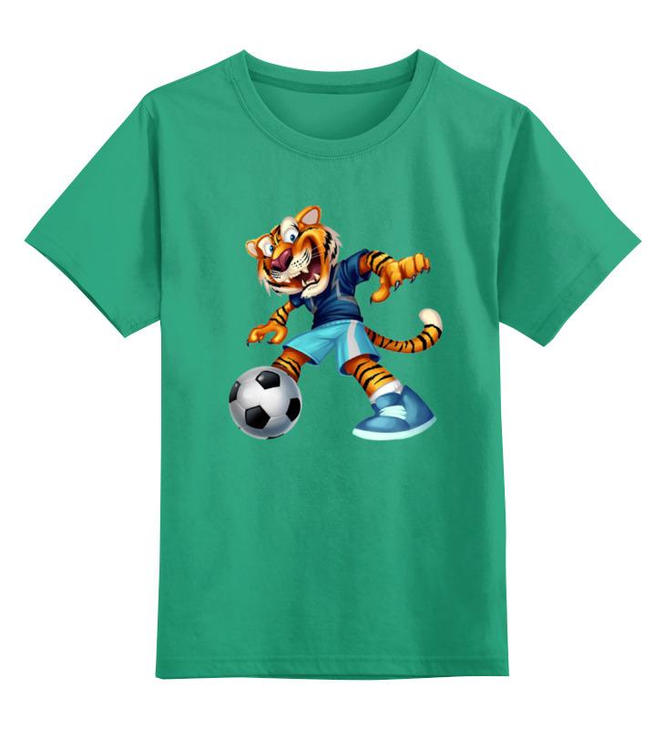 Детская футболка классическая унисекс Printio Тигр футболист детская футболка классическая унисекс printio одноглазый тигр