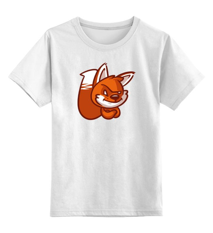 Детская футболка классическая унисекс Printio Лиса (fox) детская футболка классическая унисекс printio fox лиса