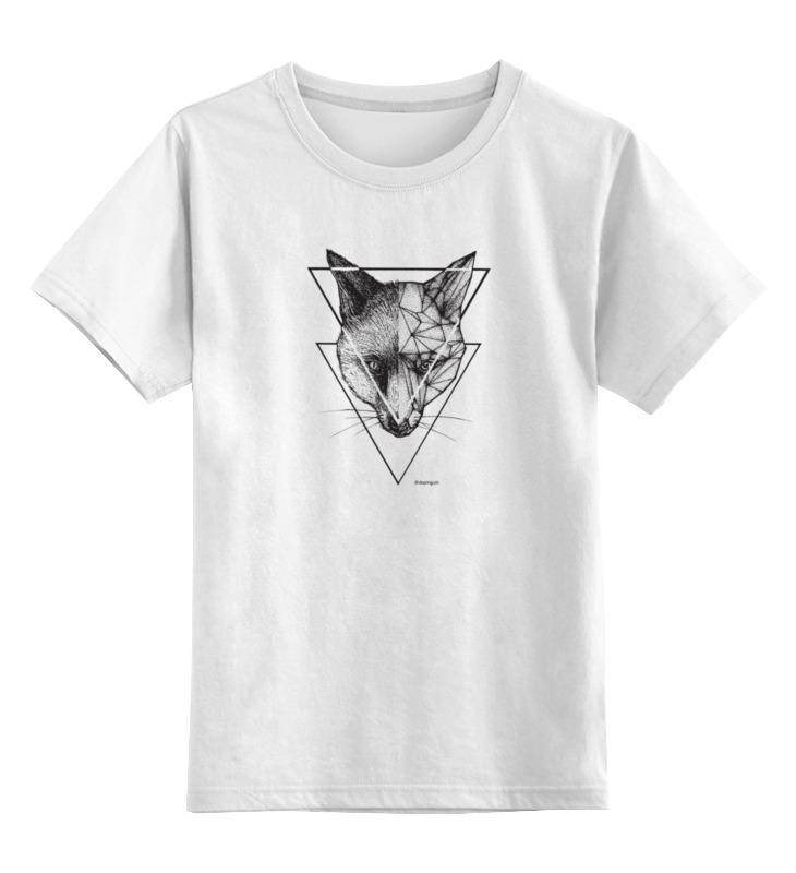 Детская футболка классическая унисекс Printio Графичная лиса детская футболка классическая унисекс printio fox лиса