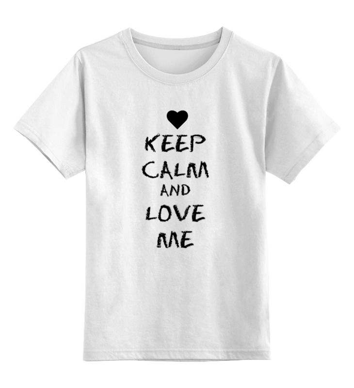 Детская футболка классическая унисекс Printio Love me детская футболка классическая унисекс printio try me
