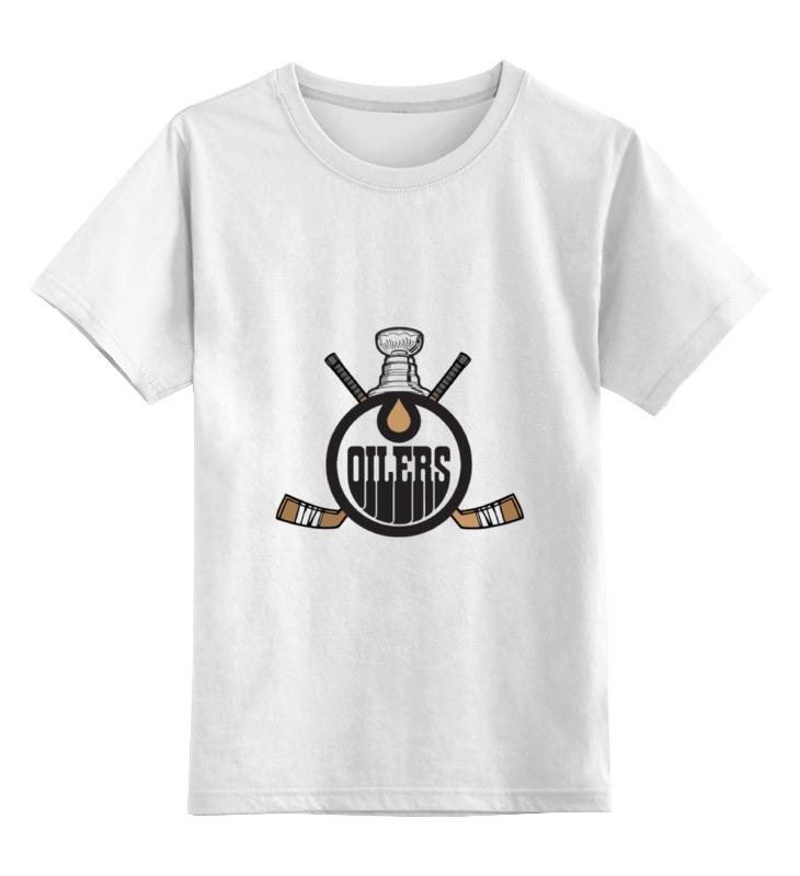 Printio Эдмонтон ойлерз детская футболка классическая унисекс printio edmonton oilers nhl canada