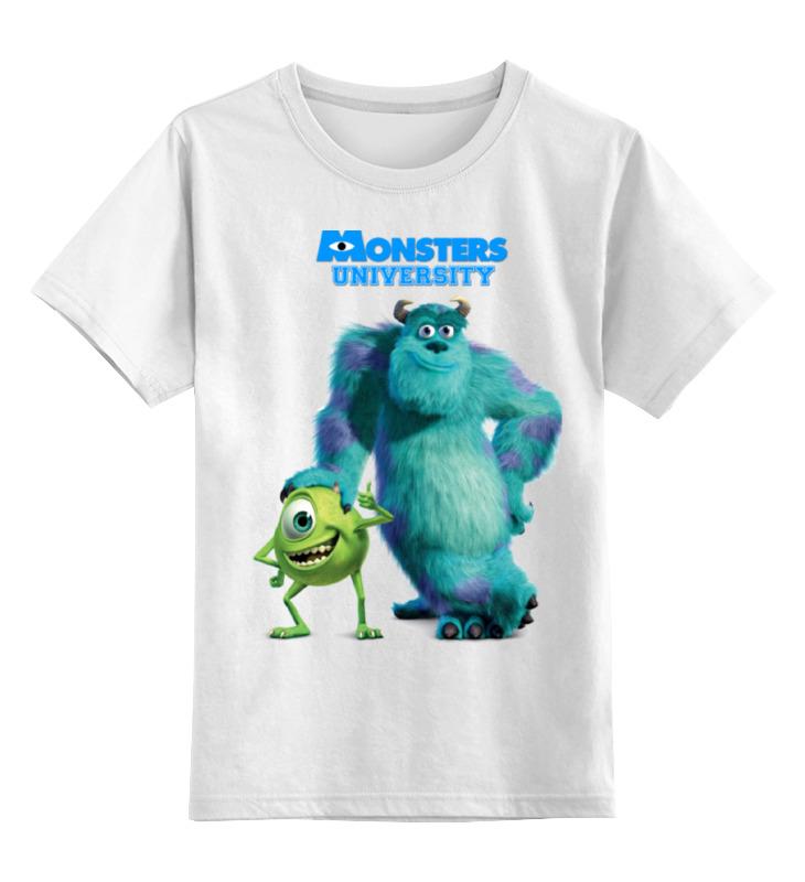 Детская футболка классическая унисекс Printio Университет монстров футболка print bar университет монстров