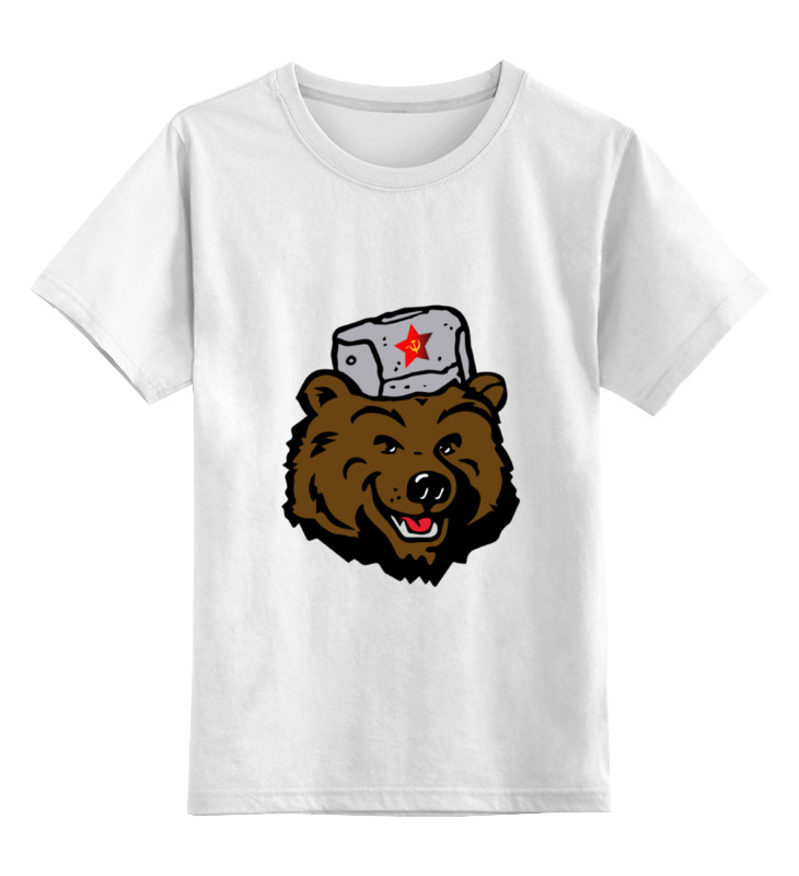 Детская футболка классическая унисекс Printio Russian bear (русский медведь)