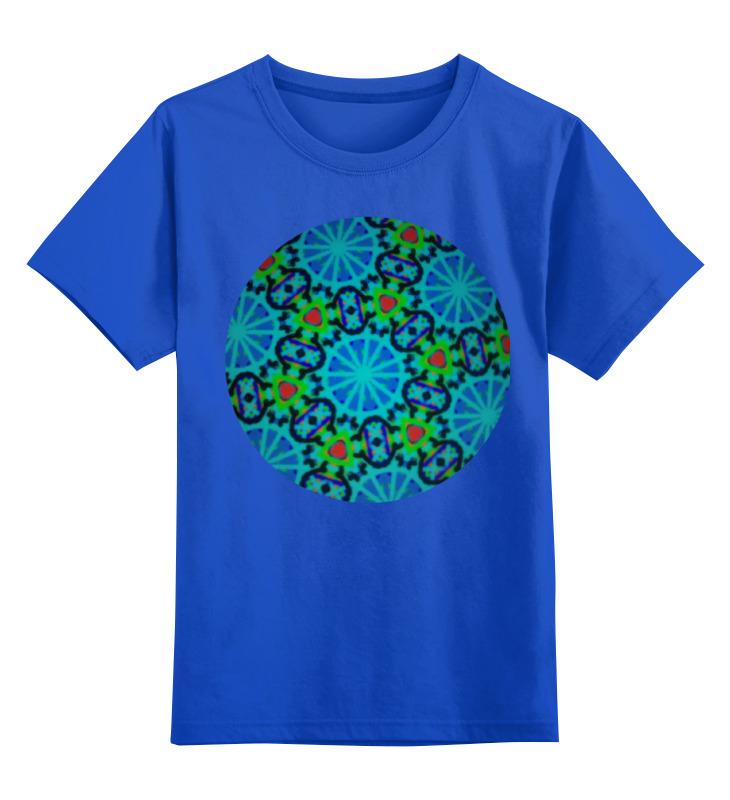 Детская футболка классическая унисекс Printio Калейдоскоп калейдоскоп мозаика барселоны цвет синий белый оранжевый
