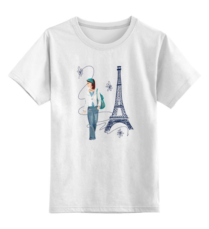 Детская футболка классическая унисекс Printio Парижанка макет эйфелевой башни спб