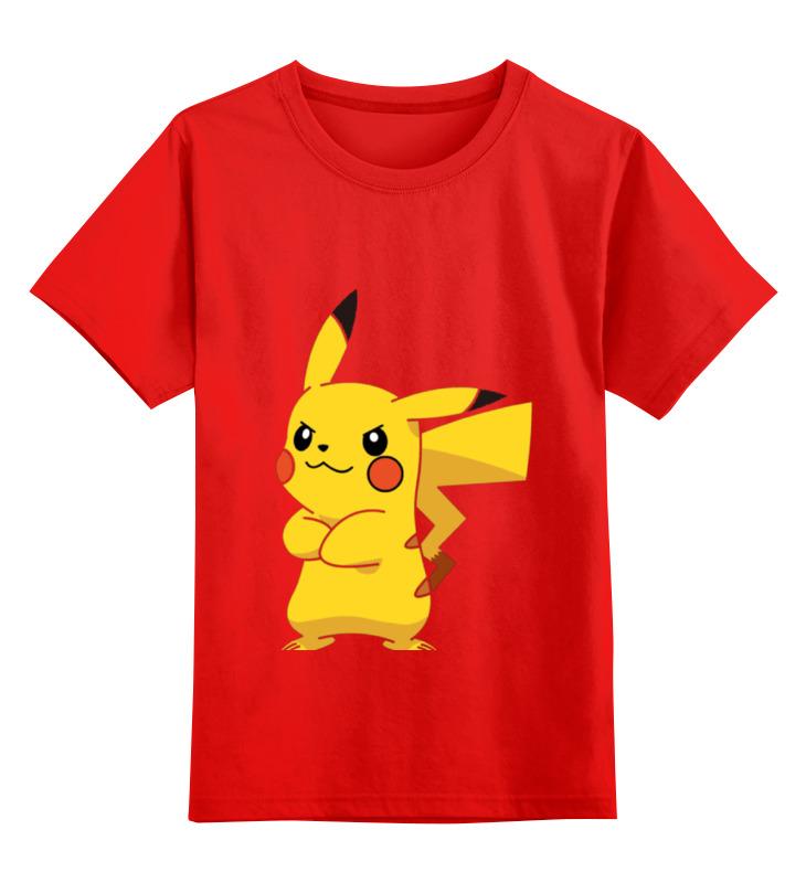 где купить Детская футболка классическая унисекс Printio Pokemon pikachu дешево