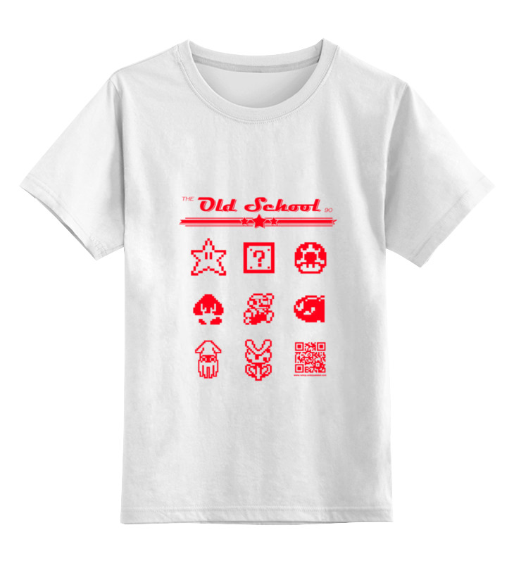 Детская футболка классическая унисекс Printio the old school 90: super mario puzo mario the family puzo