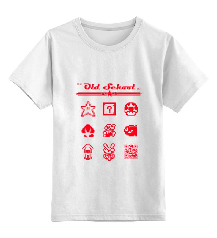 Детская футболка классическая унисекс Printio the old school 90: super mario тарзан love story 2018 10 12t19 00