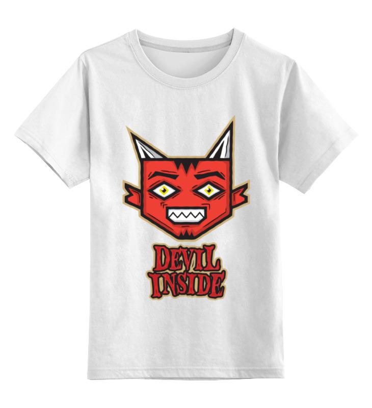 Детская футболка классическая унисекс Printio Дьявол внутри