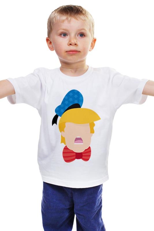 Детская футболка классическая унисекс Printio Дональд трамп монета номиналом 1 доллар президенты эндрю джонсон сша 2011 год