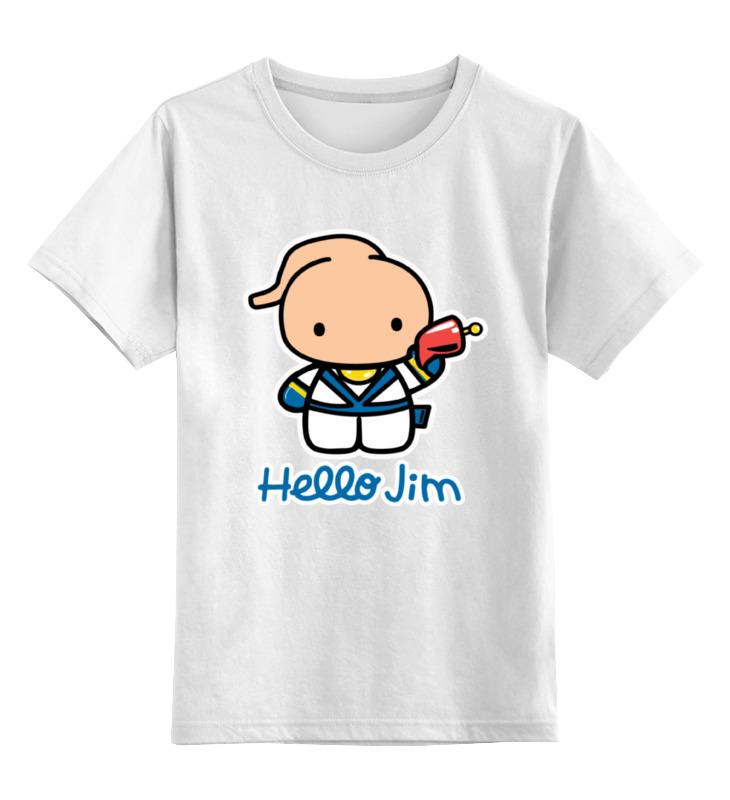 цена на Детская футболка классическая унисекс Printio Червяк джим (earthworm jim)