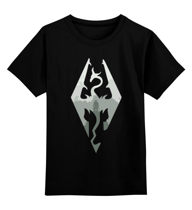 Детская футболка классическая унисекс Printio Skyrim (скайрим)