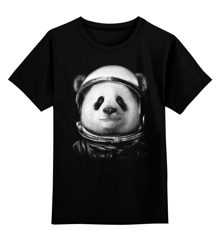 Детская футболка классическая унисекс Printio Панда космонавт цена и фото