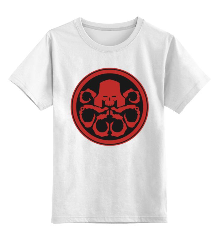 Детская футболка классическая унисекс Printio Красный череп (гидра)
