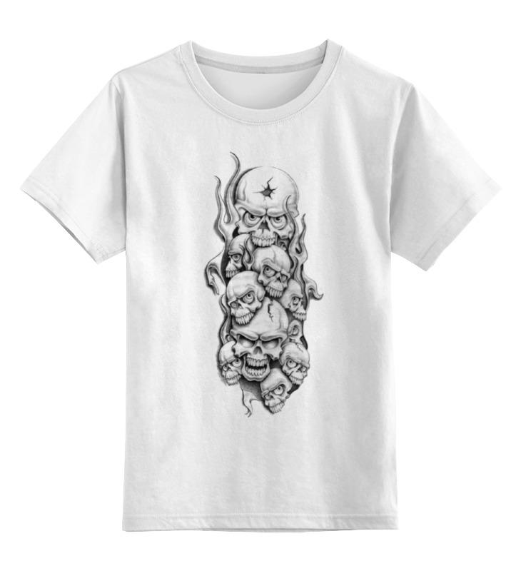 Детская футболка классическая унисекс Printio Skull art детская футболка классическая унисекс printio laughing skull