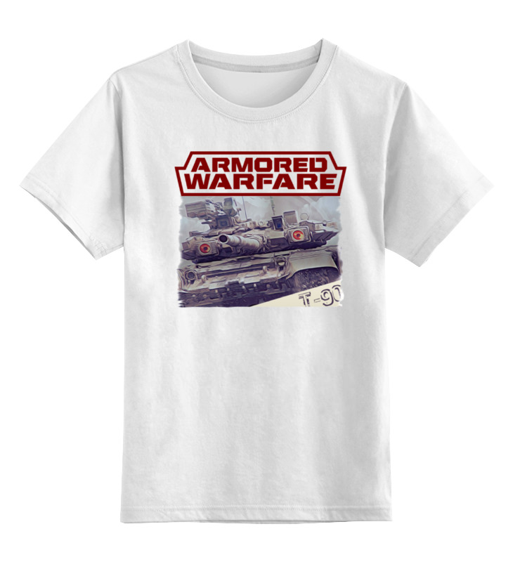 Детская футболка классическая унисекс Printio Armored warfare