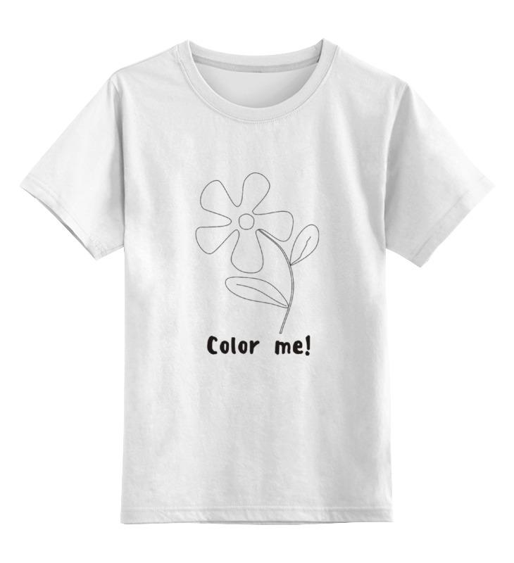 Детская футболка классическая унисекс Printio Color me детская футболка классическая унисекс printio мачете