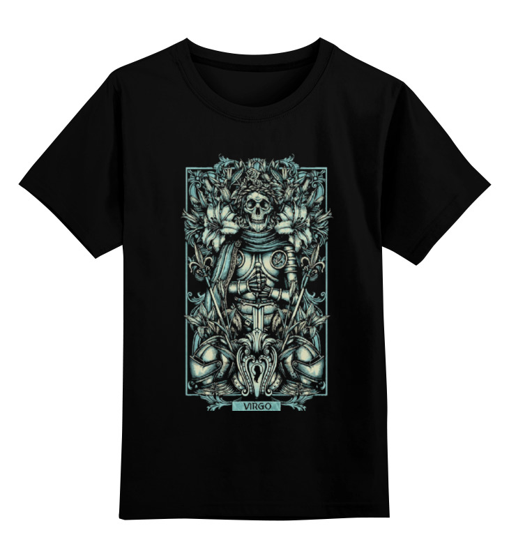 Детская футболка классическая унисекс Printio Дева (зодиак) цена