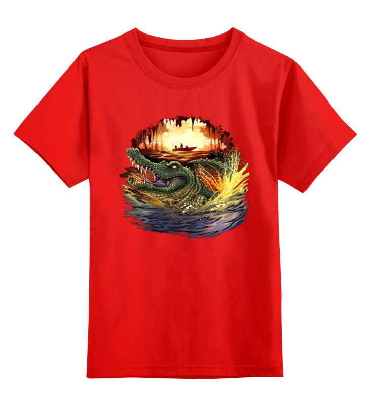 Детская футболка классическая унисекс Printio Крокодил smoby детская горка king size цвет красный