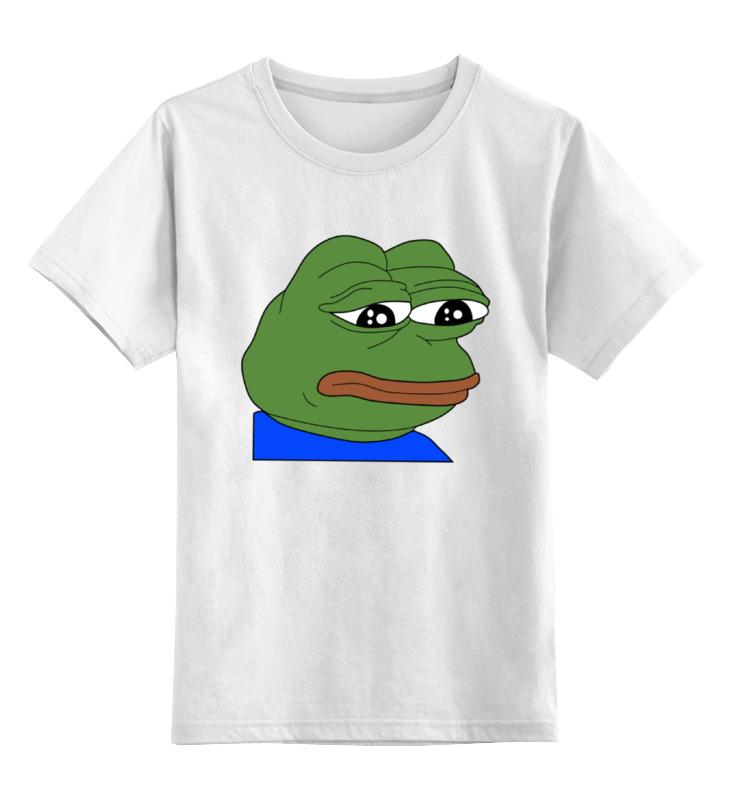 Детская футболка классическая унисекс Printio Sad frog