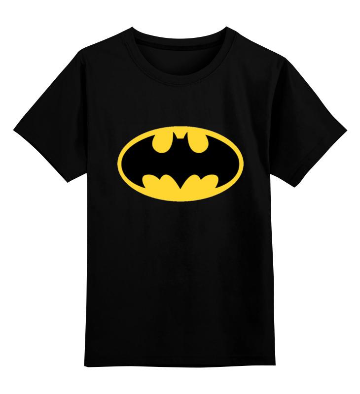 Детская футболка классическая унисекс Printio Лого бэтмена цена и фото