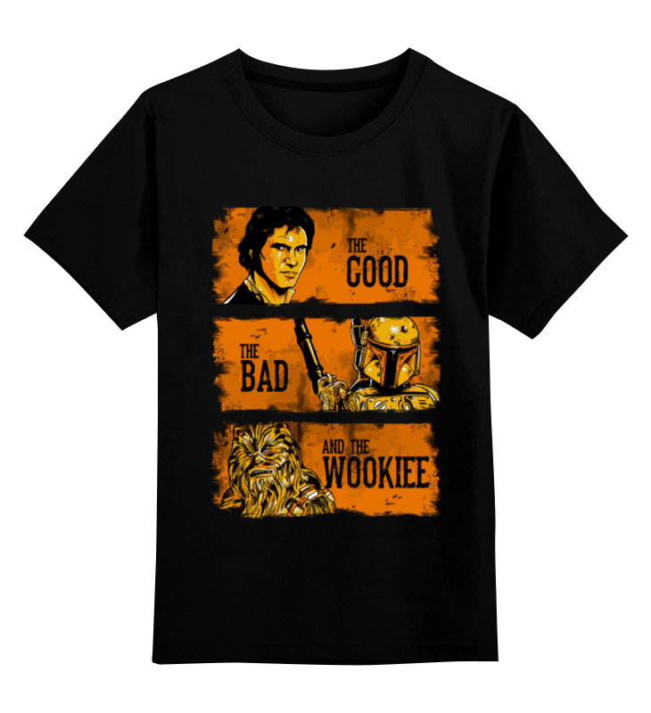 Детская футболка классическая унисекс Printio The good, the bad and the wookie толстовка wearcraft premium унисекс printio the good the bad and the wookie