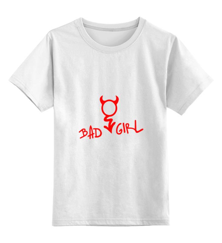 Детская футболка классическая унисекс Printio Bad girl (плохая девченка) цена и фото