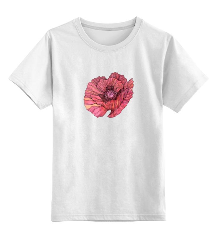 Детская футболка классическая унисекс Printio Стилизованный винтажный арт-цветок винтажный декупаж ретромобиль