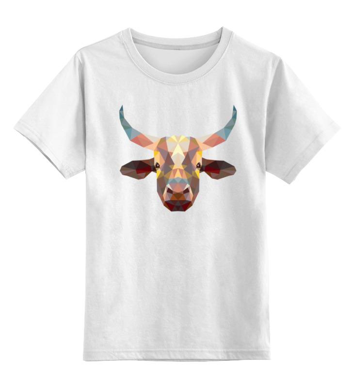 Детская футболка классическая унисекс Printio Полигональный бык детская футболка классическая унисекс printio мотобайк