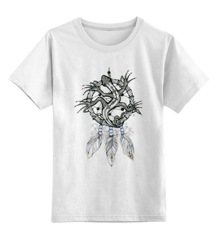 Детская футболка классическая унисекс Printio Ловец снов ящерка футболка рингер printio ловец снов ящерка