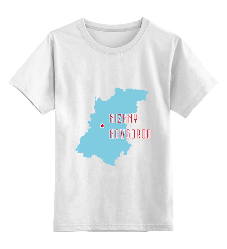 Детская футболка классическая унисекс Printio Нижегородская область. нижний новгород apple 4 32gb нижний новгород