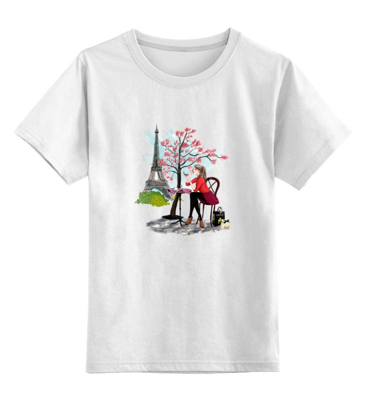 Детская футболка классическая унисекс Printio Девушка в париже детская футболка классическая унисекс printio девушка