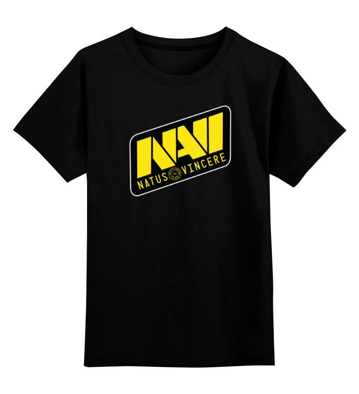 Детская футболка классическая унисекс Printio Natus vincere logo (black)