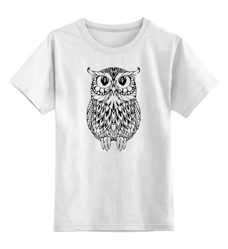 Детская футболка классическая унисекс Printio Арт-сова цена и фото