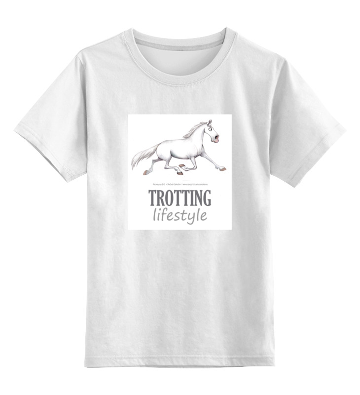 Детская футболка классическая унисекс Printio Trotting
