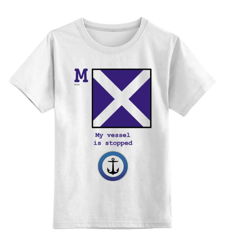 Детская футболка классическая унисекс Printio Mike (m),флаг мсс (eng) mike at wrykyn