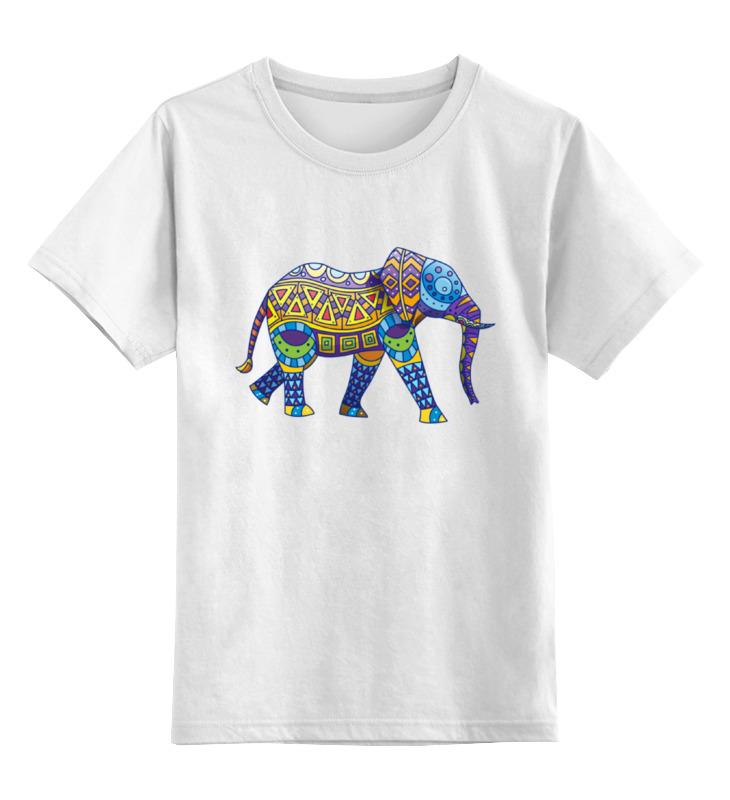 Детская футболка классическая унисекс Printio Индийский слон
