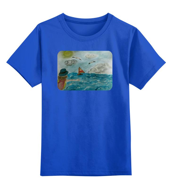 Детская футболка классическая унисекс Printio Море. облака. парус. футболка print bar парус