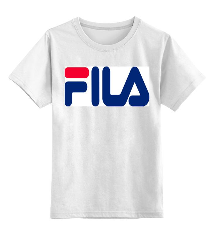 Детская футболка классическая унисекс Printio Fila ip футболка для девочки fila цвет белый a19afltsg02 00 размер 164