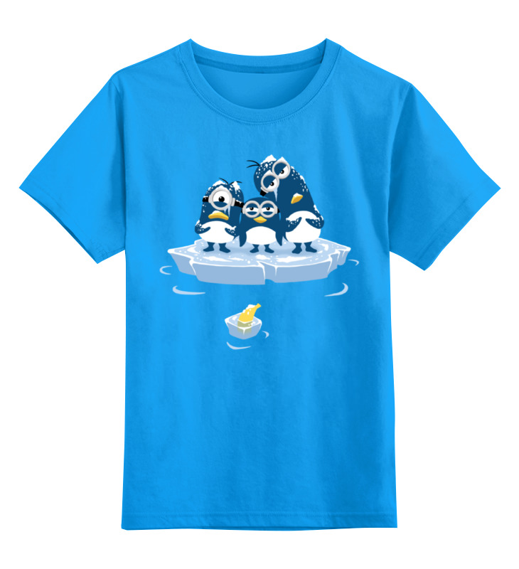 Детская футболка классическая унисекс Printio Миньоны пингвины детская футболка классическая унисекс printio миньоны