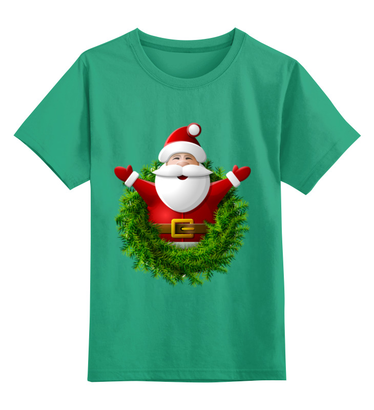 Детская футболка классическая унисекс Printio Санта футболка классическая printio девушка в венке