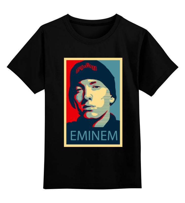 Детская футболка классическая унисекс Printio Эминем (eminem) недорго, оригинальная цена