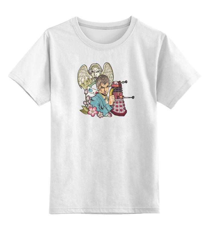 Детская футболка классическая унисекс Printio 10-ый доктор кто цена