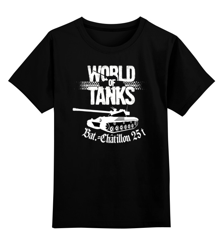 цена на Детская футболка классическая унисекс Printio Bat - chatillon 25t (wot)