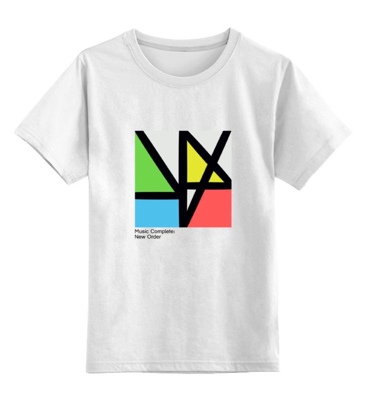 Детская футболка классическая унисекс Printio New order / music complete
