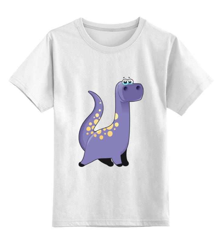 Детская футболка классическая унисекс Printio Забавный  динозаврик детская футболка классическая унисекс printio мачете