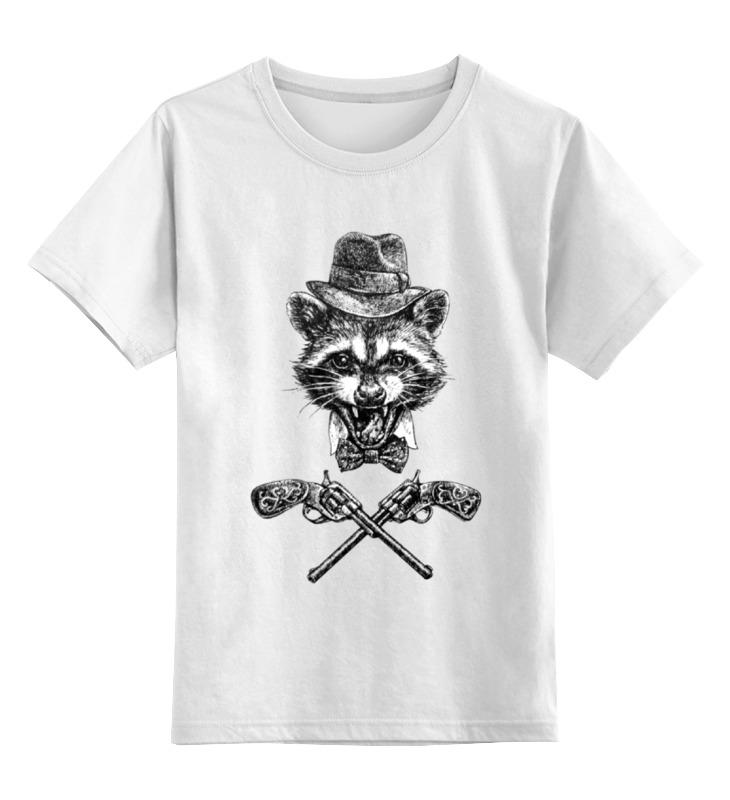 Детская футболка классическая унисекс Printio Енот ганстер детская футболка классическая унисекс printio забавный енот